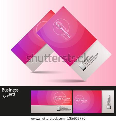 Modern Business - Card Set | EPS10 Vector Design - stock vector