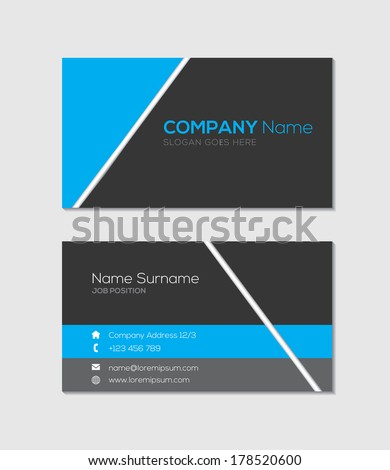 Modern business card template - stock vector