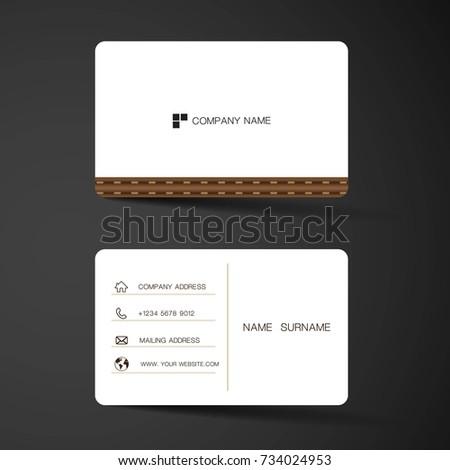 Modern Business Card Template Design Inspiration Stock Vector - Business card template design