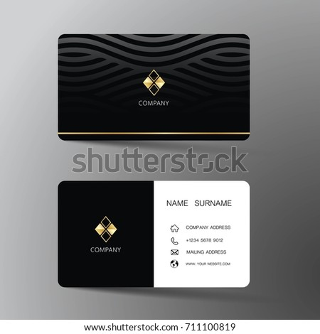 Modern business card template design inspiration stock vector modern business card template design with inspiration from the abstractntact card for company cheaphphosting Gallery