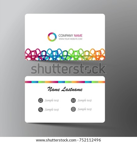 Modern business card template design inspiration stock vector modern business card template design with inspiration from the abstractntact card for company reheart Images