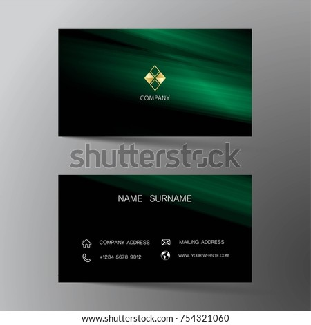 Modern Business Card Template Design With Inspiration From The AbstractContact For Company
