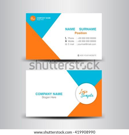 Modern business card vector templateflyer designpolygon stock vector modern business card vector templateflyer designpolygon backgroundname card template reheart Images