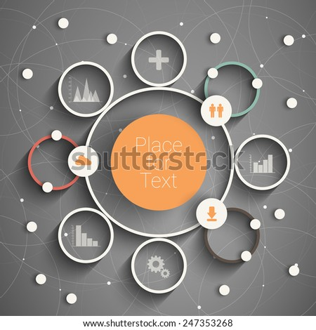 Modern business circle options banner. Eps10 Vector illustration. can be used for workflow layout, diagram, number options, step up options, web design, infographics. - stock vector
