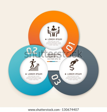 Modern business circle origami style options banner. Vector illustration. can be used for workflow layout, diagram, number options, step up options, web design, infographics.