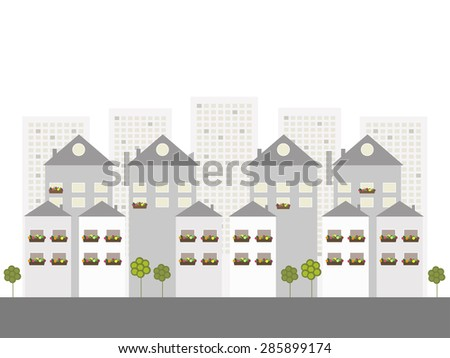 Modern Business City, Real Estate Concept - stock vector