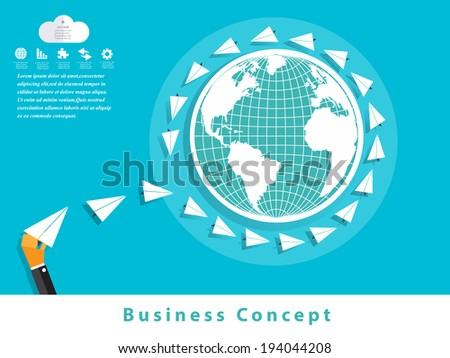 Modern business concepts in flat design  - stock vector
