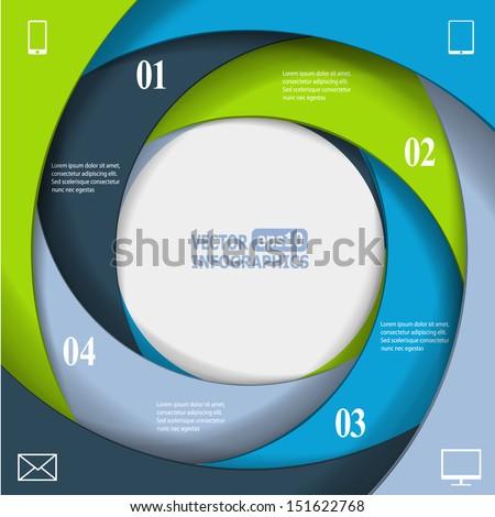 Modern business infographic banner. Vector eps10 illustration - stock vector