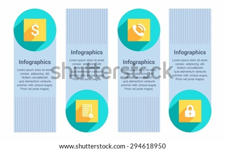 Modern Business Infographic designs on the White background. Eps 10 vector file. - stock vector