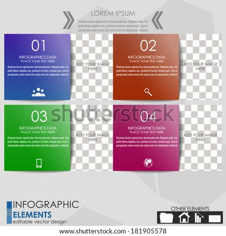 Modern business infographic option banner/Design for diagram, workflow layout, web design or working presentation