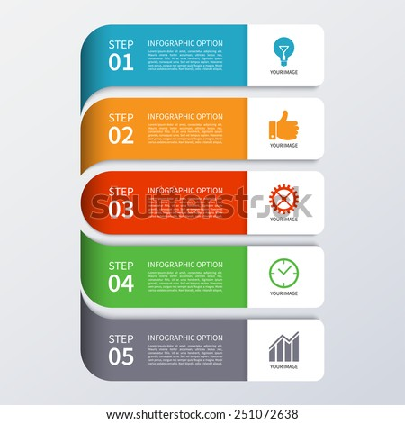 Modern business infographics banner. Origami style. Vector illustration. Can be used for workflow layout, brochure, diagram, chart, number and step up options, web design - stock vector