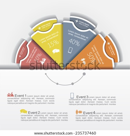 Modern business Infographics circle layout. Vector illustration - stock vector