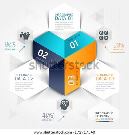 Modern business infographics origami template. Vector illustration. can be used for workflow layout, diagram, number options, business step options, banner, web design. - stock vector