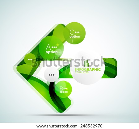 Modern business infographics. Shiny abstract geometric forms - stock vector