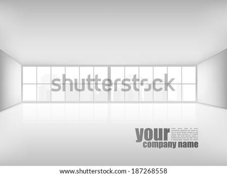 Modern Business Interior  - stock vector