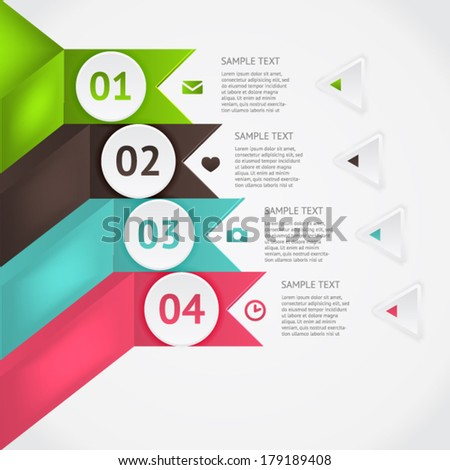 Modern business origami style options banner. Vector illustration. For workflow layout, diagram, number options, step up options, web design, infographics.