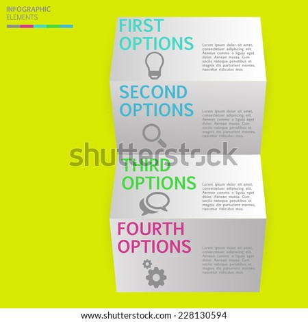 Modern business step folded paper style options banner, Vector illustration template design. EPS 10 - stock vector