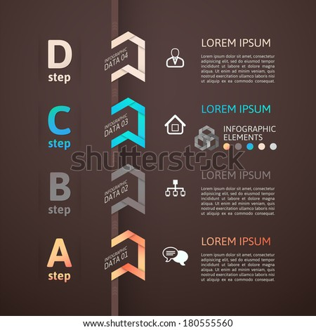 Modern business step origami style options banner, vector illustration - stock vector