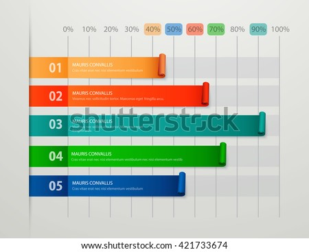 Modern business steps to success chart and graph options banner. Vector illustration - stock vector