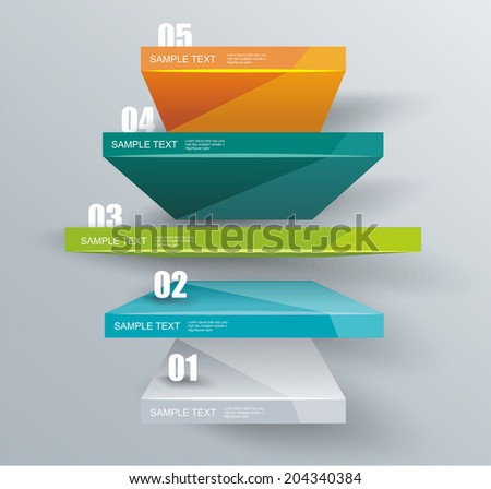 Modern business steps to success, graphs options banner.  - stock vector