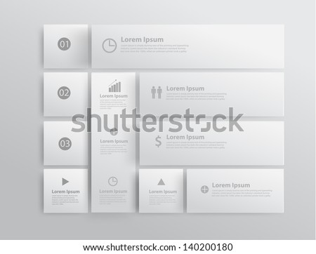 Modern business template design, Vector illustration - stock vector