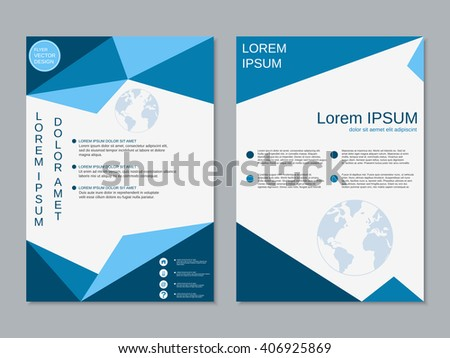 Modern business twosided booklet template professional for Double sided brochure template