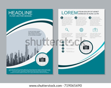 modern rollup abstract geometric style business stock vector