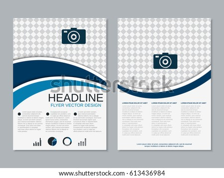 modern twosided booklet vector template professional stock vector