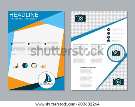 professional modern twosided booklet design business stock vector