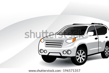 Modern car with grey background