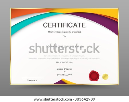 Modern certificate appreciation template diploma design stock vector modern certificate appreciation template diploma design vector illustration yadclub Image collections