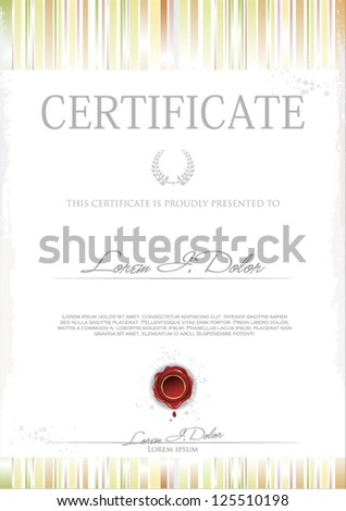 Modern Certificate or Diploma of completion. Vector template - stock vector