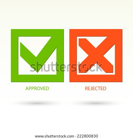 Modern check mark symbols. Vector illustration - stock vector