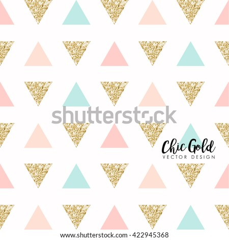 Modern Chic Gold Background Vector Design  - stock vector