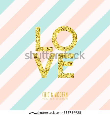 Modern Chic Love Element Vector Design - stock vector