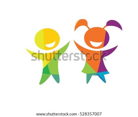 modern children education logo happy kids education - Images For Children