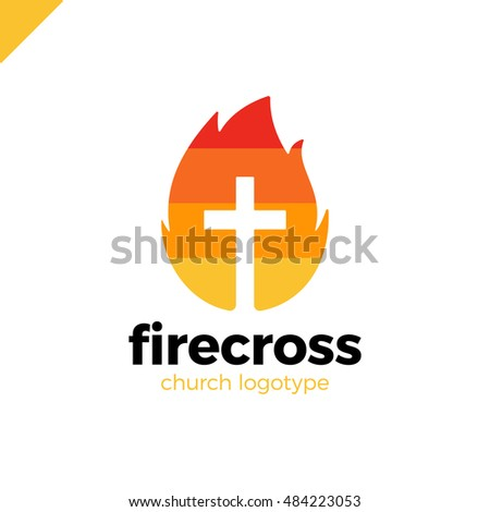 modern christianity cross fire flame symbol stock vector 484223053 rh shutterstock com cross and flame logo download methodist cross and flame logo