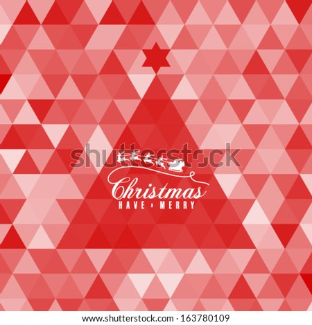 Modern Christmas Card Triangle Pattern Background Stock Vector ...