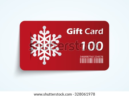 Modern christmas gift card template - vector format.