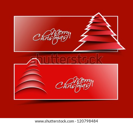 Modern christmas header design, eps10 vector illustration - stock vector