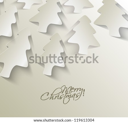 Modern christmas tree background, eps10 vector illustration - stock vector