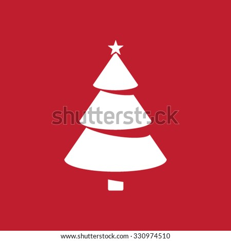 Modern Christmas tree icon. - stock vector