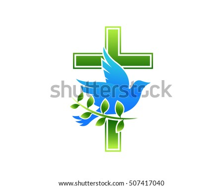 Modern church logo dove cross stock vector 507417040 shutterstock modern church logo dove cross altavistaventures Choice Image