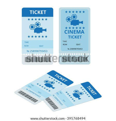 Modern cinema ticket, cinema  tickets, cinema  ticket isolated, cinema ticket on write background, cinema  ticket Icon, cinema  tickets for online booking, cinema tickets design, cinema ticket vector - stock vector