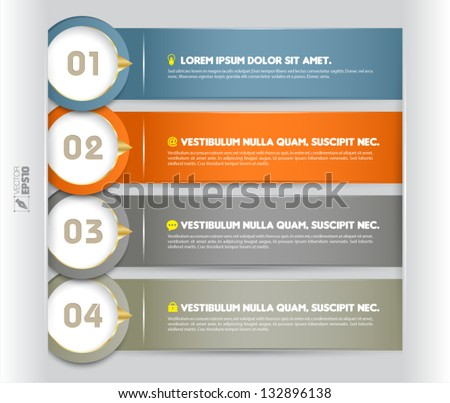 Modern circle mini infographics banner. Vector illustration. can be used for workflow layout, diagram, number options, web design, brochure - stock vector