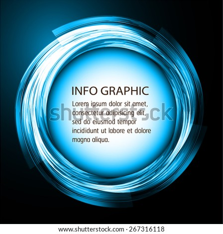 modern circle text box template for website computer graphic and internet, dark blue background. Brochure. text box. banner. card. - stock vector