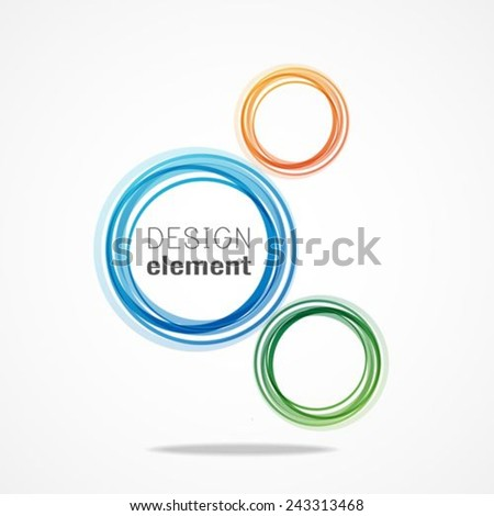 Modern circle Vector illustration.can be used as symbol, logo, web, label, emblem.  - stock vector