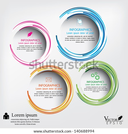 Modern circle Vector illustration. can be used for workflow layout, diagram, number options, web design, infographics, business brochure. - stock vector