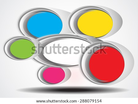Modern circle Vector illustration can be used for workflow layout, diagram, number options, web design, infographics, business brochure.