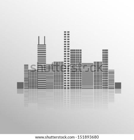 Modern city - stock vector